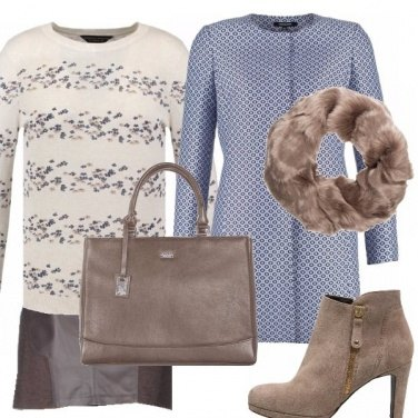 Outfit Pelle, mare e taupe...
