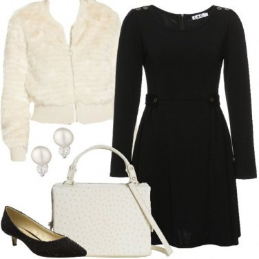 Outfit Black and white bon ton