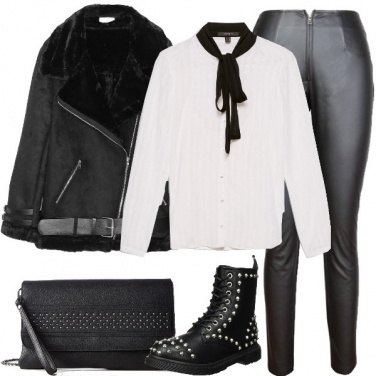 Outfit Camicia rock