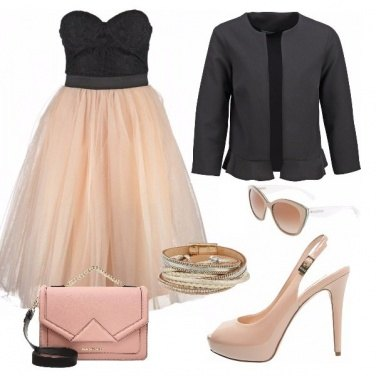Outfit Black and pink