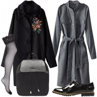 Outfit Cappotto con ricami