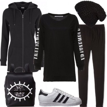 Outfit Urban in nero