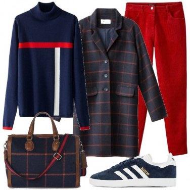 Outfit Adoro il rosso e blu