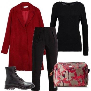 Outfit La signora dal cappotto rosso