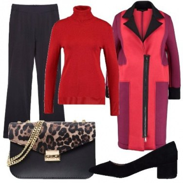 Outfit Il cappotto multicolore