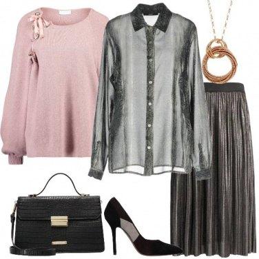 Outfit Il pullover con i fiocchi in raso