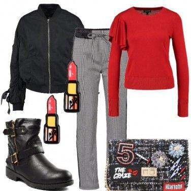 Outfit Rosso e nero per tutte le tasche
