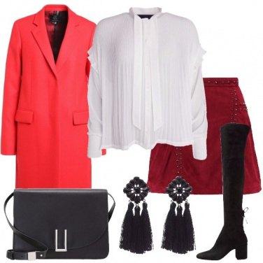 Outfit La minigonna bordeaux