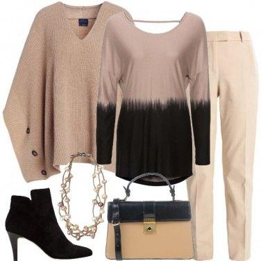 Outfit La mantella in versione chic