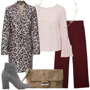 Outfit Il cappotto marrone leopardato