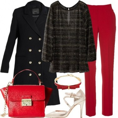 Outfit Fiocco rosso