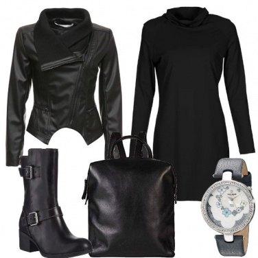 Outfit Di nero di giorno