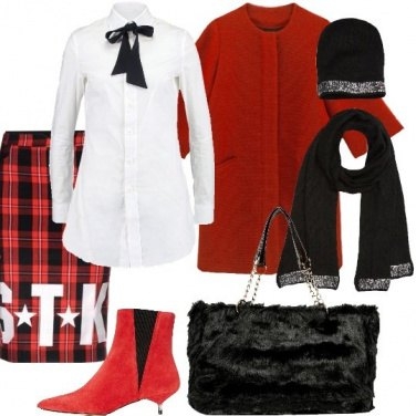 Outfit Trendy in rosso