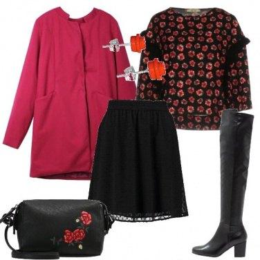 Outfit Il mio cappotto rosso