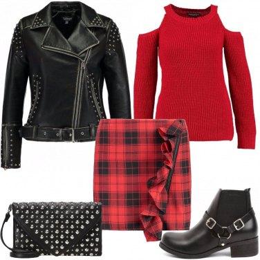 Outfit Borchie e scozzese