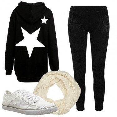 Outfit Felpa oversize