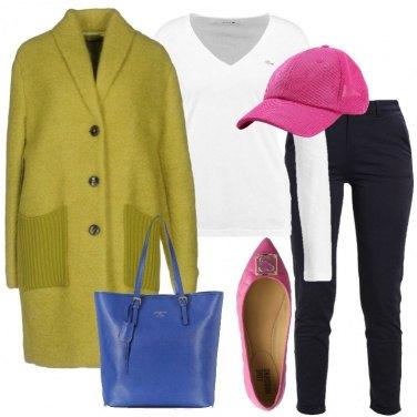 Outfit Il cappotto verde acido