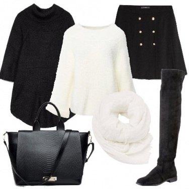 Outfit Il poncho nero