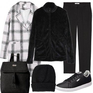 Outfit Cappotto a quadri