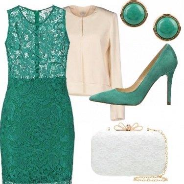 Outfit Per chi ama il verde ed il pizzo