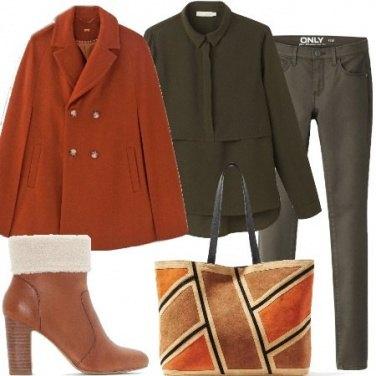 Outfit Colori caldi con il freddo