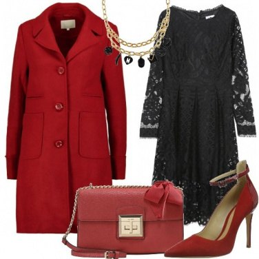Outfit In rosso e nero
