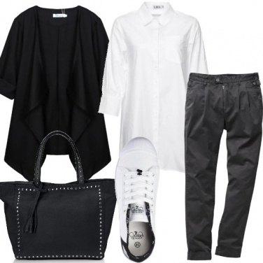 Outfit Bianco e nero per tutti i giorni