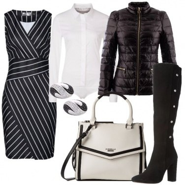 Outfit Gessato alternativo