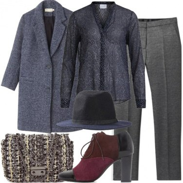 Outfit La pochette in tweed