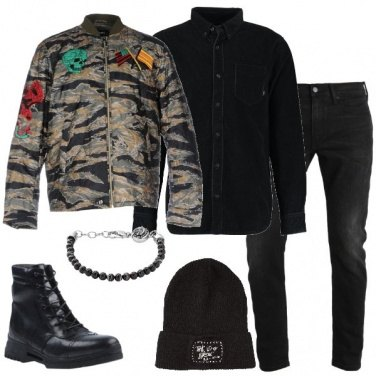 Outfit La giacca con le applicazioni