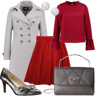 Outfit Il rosso e il grigio