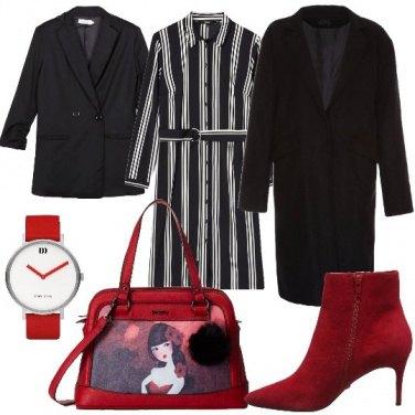 Outfit Righe abbinate al rosso