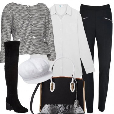Outfit La giacca Chanel sui leggings