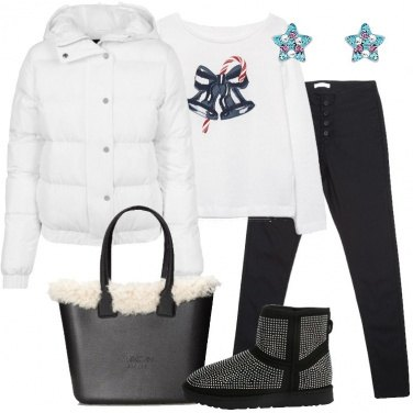 Outfit Bianco e nero in città
