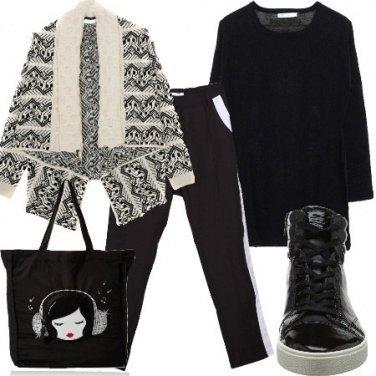 Outfit Comoda in bianco e nero