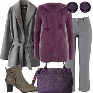 Outfit Il pullover viola