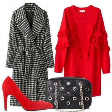 Outfit Pied-de-poule e rouches