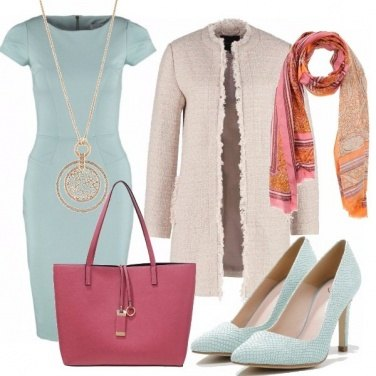 Outfit Light mint & strawberry bon ton