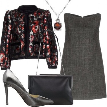 Outfit Un giacchino con paillettes