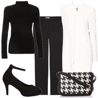 Outfit La borsa pied de poule