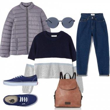 Outfit sportivo, comodo pratico e stiloso: jeans strappati