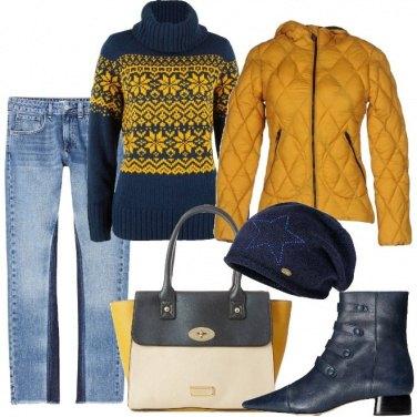 Outfit Il maglione a fantasia