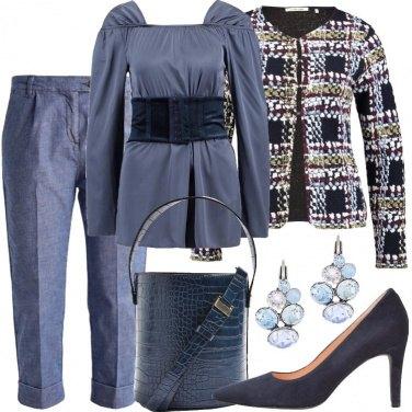 Outfit Cerchi e quadrati blu