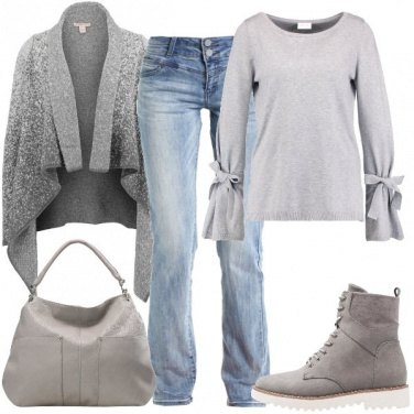Outfit Cardigan sfumato