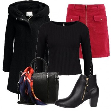 Outfit La gonna in rosso