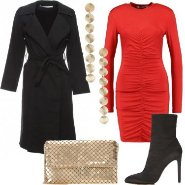 Outfit L\'abito aderente rosso