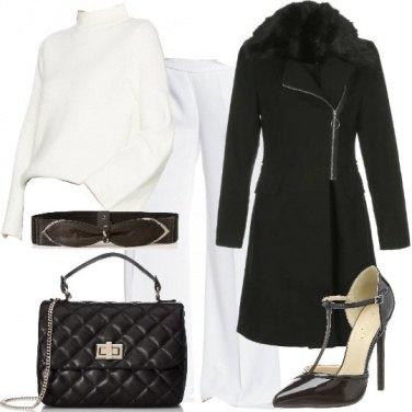 Outfit Raffinata in bianco e nero