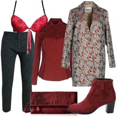 Outfit Rosso fiorato