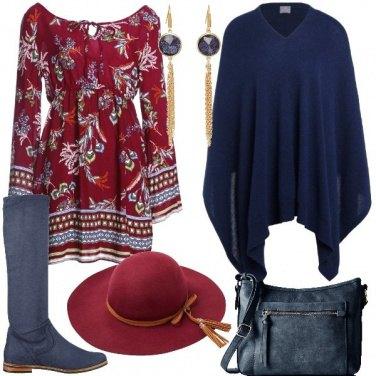 Outfit Poncho e cappello