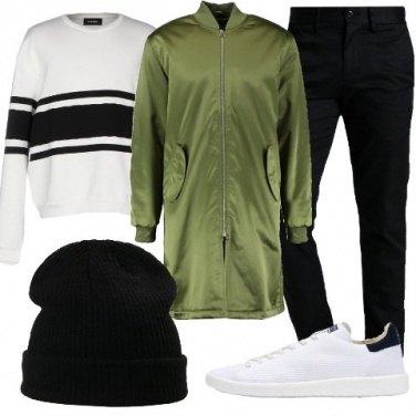 Outfit Cappotto con collo alla coreana